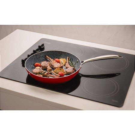 Frigideira para Indução Gourmet Granito Stoneflon 28cm Mta