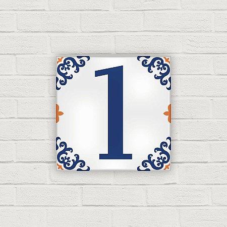 Número Residencial em Cerâmica - Arabesco - 10x10cm