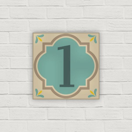 Número Residencial em Cerâmica - Hidráulico Verde - 10x10cm