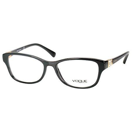 903c80b661423 Oculos Vogue de Grau Feminino Médio Preto Brilho VO5170B - Óculos de ...