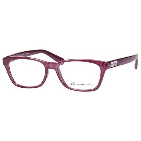 Oculos de Grau Feminino Médio Armani Exchange Roxo AX3006L - Óculos ... 4ec6173d63