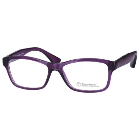 e0c8e35567 Óculos de Grau Feminino Tecnol TN3024 Roxo Brilho Translúcido ...