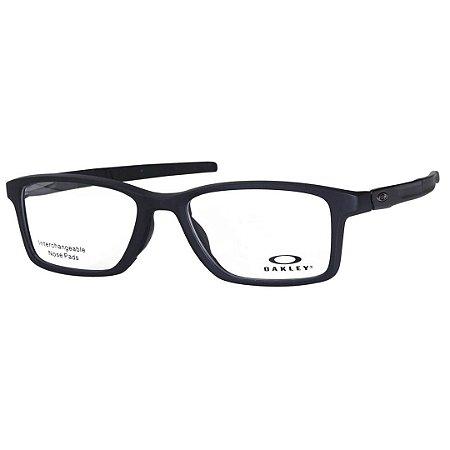 d840b30ea Óculos de Grau Oakley Gauge 7.1 OX8112 Preto Fosco Masculino ...