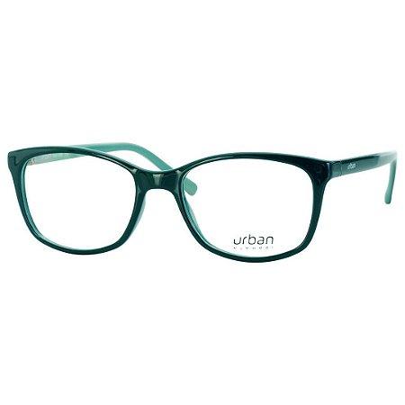 2b646c8bb997d Armação Óculos de Grau Pequeno Feminino Urban 5004 Verde Brilho ...