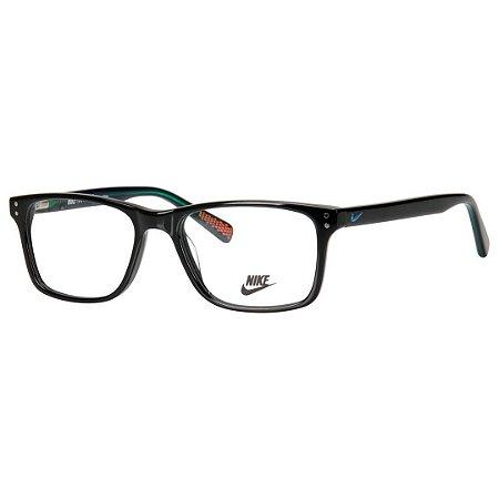 2ba37dc82b Armação de Grau Preto Brilho Médio Nike 7243 - Óculos de Grau ...