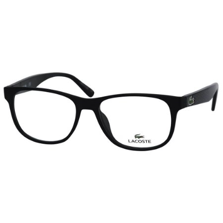 8c2fd0e1e Óculos de Grau Lacoste L2743 Acetato Preto Fosco Médio - Óculos de ...