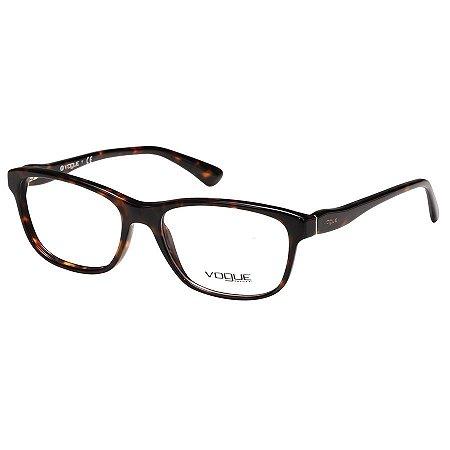 Óculos de Grau Feminino Vogue VO2908 Marrom Tartaruga Brilho Médio ... df15ecb795