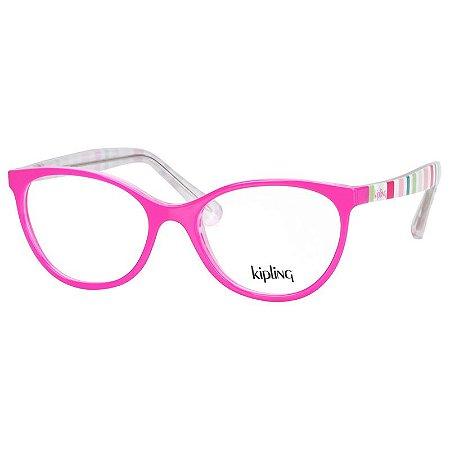 Óculos de Grau Infantil Kipling KP3108 Rosa Brilho Estampado ... 70e578a597