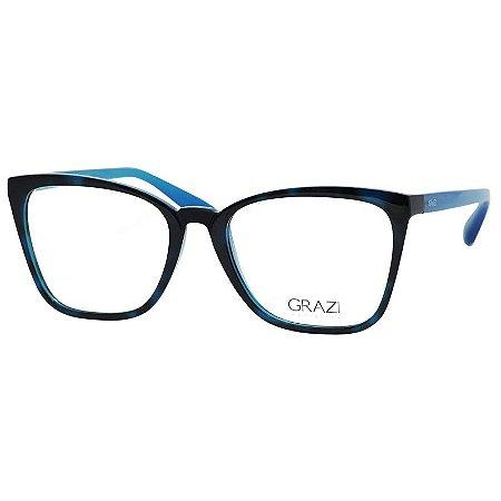 Óculos de Grau Grazi Massafera GZ3054 Azul Demi Brilho Médio ... 53a47016af