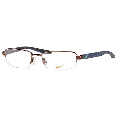 Oculos de Grau Masculino Nike 8174 Médio Bronze com Azul