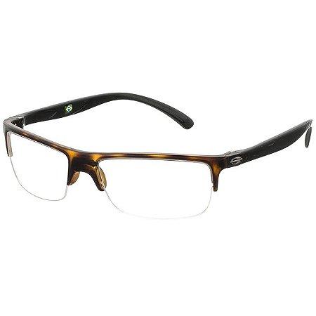 Óculos de Grau Mormaii Eclipse 2 Marrom Demi Brilho com Preto Médio