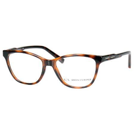 Oculos de Grau Feminino Armani Exchange AX3044 Marrom Tartaruga Translúcido Brilho