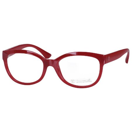 Óculos de Grau Feminino Tecnol TN3046 Vermelho Brilho Médio