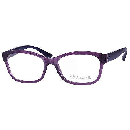 Óculos de Grau Feminino Roxo Tecnol TN3038 Translúcido e Azul