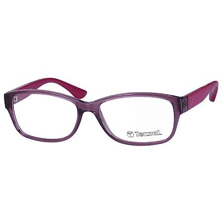 Óculos de Grau Feminino Roxo Tecnol TN3042 Translúcido Médio
