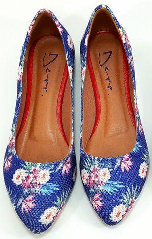 4535d67817 Sapatilha Bico Fino Floral Deep Moda Feminina. - ShoeGirls Sapatos ...