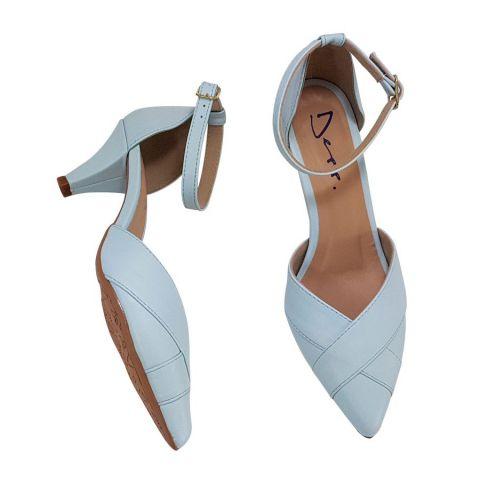 9c482de0c Scarpin Ballerina Azul BB Salto 5 Cm Sapatos Femininos Depp Calçados ...