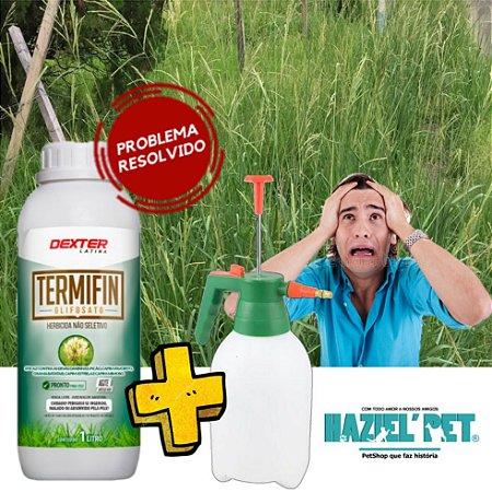 Pulverizador 1,5 litro + Glifosato - Mata mato 1 litro