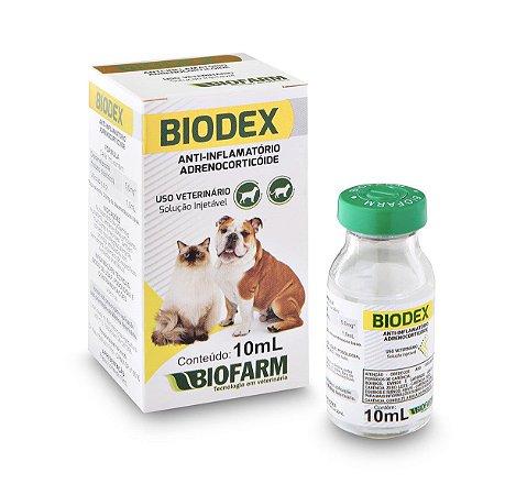 Biodex anti-inflamatório injetável 10ml - Antiinflamatório para cachorro e gato