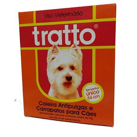 coleira antipulgas - carrapaticida sarnicida antipulgas tratto 56cm cães e gatos
