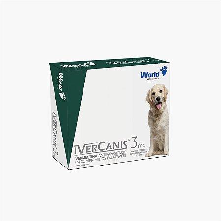 ivercanis 3mg - Top ação zero sarnas pulgas e carrapatos Cães até 15kg