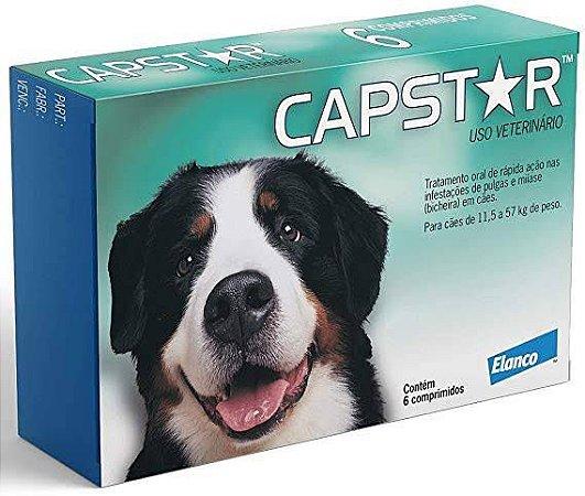 Capstar 57mg - antipulgas sarnicida carrapaticida para cães e gatos de 11,5kg á 57kg