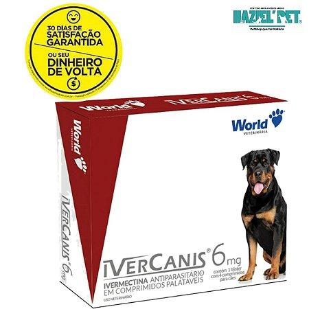 Ivercanis 6mg - Top formula zero sarnas pulgas e carrapatos cães até 30kg