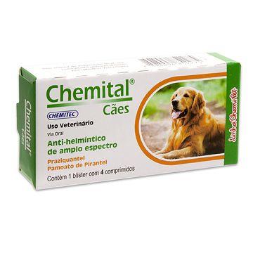 Chemital cães - vermifugo para cães 4 comprimidos
