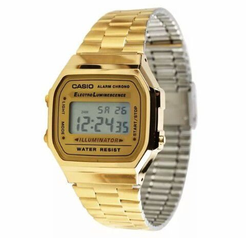 1792cac5d0f Relógio Casio Unissex Retrô vintage A168wg-9wdf - K²L Shop Virtual