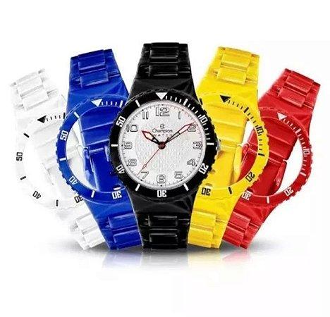 c242c60ebca Relógios Unissex Champion Cp30119x + 5 Pulseiras Colorida!! - K²L ...