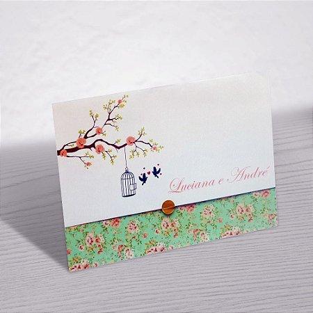 Convite Casamento Floral Luciana
