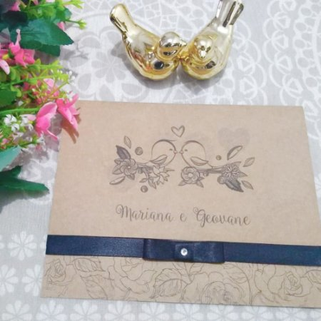 Convite Casamento Rústico Mariana