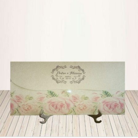 Convite Rústico Rosas P&M