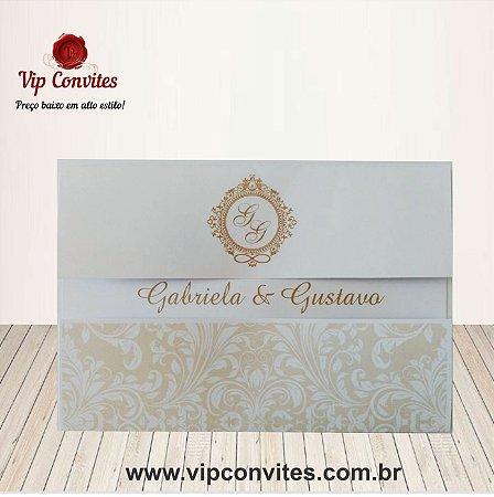 Convite Clássico Gaby & Guto