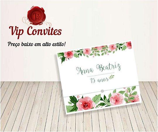 Convite Floral 15 anos  Anna