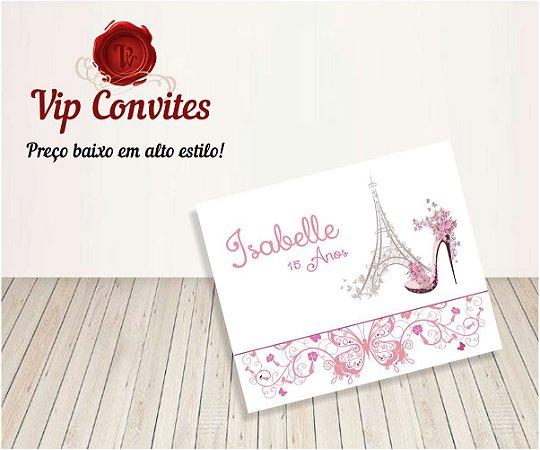 Convite 15 anos Paris Torre
