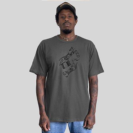 Camiseta Bleed Match Chumbo