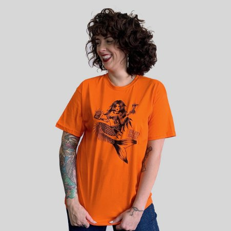 Camiseta Bleed Sushi Bar Laranja