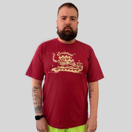 Camiseta Ventura Snakehead Vinho