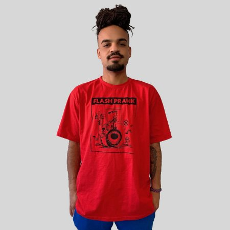Camiseta Ventura Flash Prank Vermelho