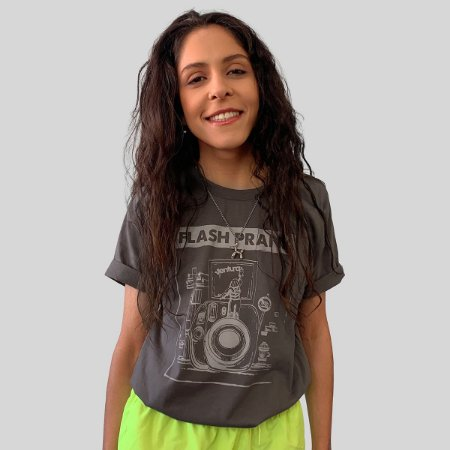 Camiseta Ventura Flash Prank Chumbo
