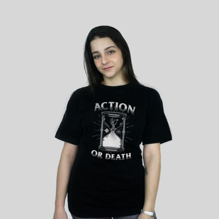 Camiseta Action Clothing Action Or Death Preta