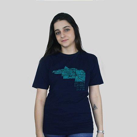 Camiseta Action Clothing Latitude Azul Marinho