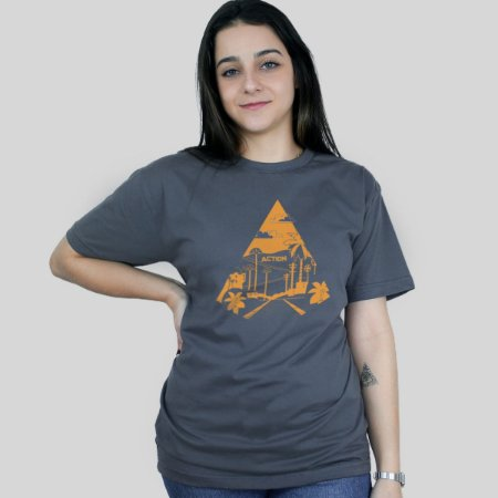 Camiseta Action Clothing Sunset Blvd Chumbo