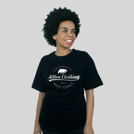 Camiseta Action Clothing Santa Monica Preta
