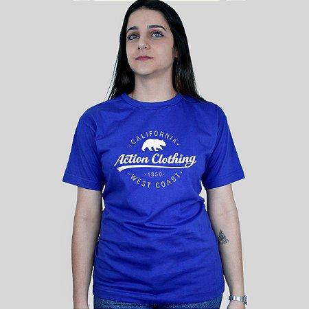 Camiseta Action Clothing Santa Monica Azul Royal