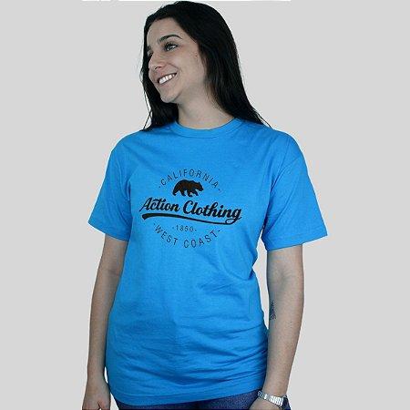 Camiseta Action Clothing Santa Monica Turquesa