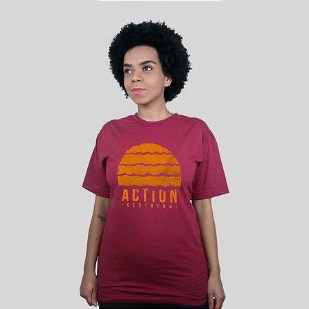 Camiseta Action Clothing Gradient Vinho