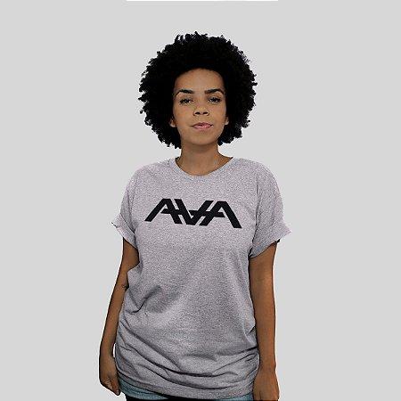 Camiseta 182Life AVA Logo Cinza Mescla