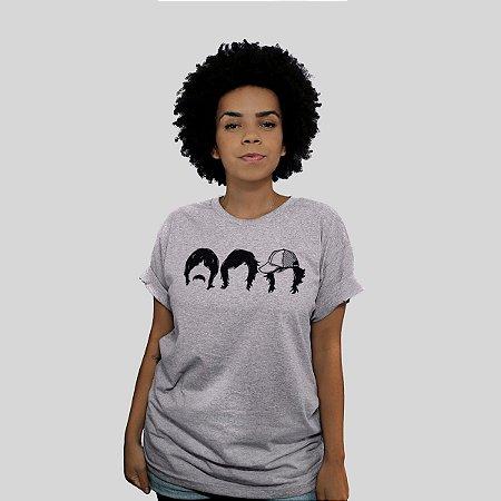 Camiseta 182Life First Date Faces Cinza Mescla